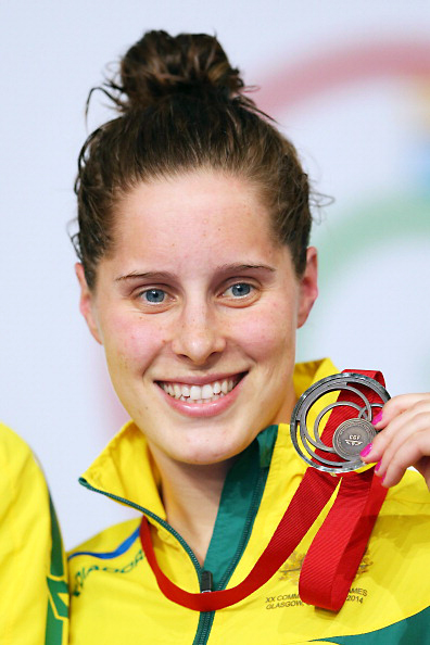GLASGOW, SCOTLAND - JULY 26:  Bronze medallist Belinda Hocking of Australia poses during the medal ceremony for the Women's 100m Backstroke Final at Tollcross International Swimming Centre during day three of the Glasgow 2014 Commonwealth Games on July 26, 2014 in Glasgow, Scotland.  (Photo by Quinn Rooney/Getty Images)